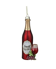 Wine Country Glass Bottle Christmas ornament