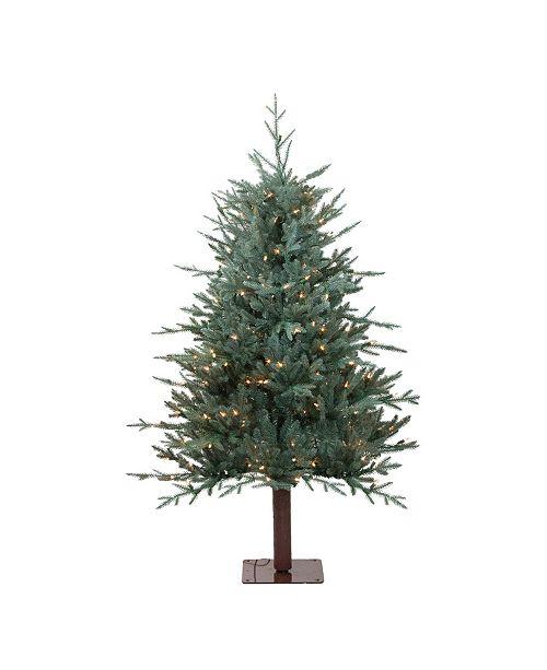 Northlight 4.5' Pre-Lit Fairbanks Alpine Artificial Christmas Tree - Clear Lights