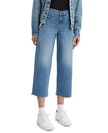 Women's Classic Cropped Wide-Leg Jeans