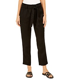 Tie-Belted Utility Pants, Created For Macy's