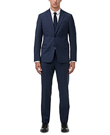 Men's Modern-Fit Navy Birdseye Suit Separates