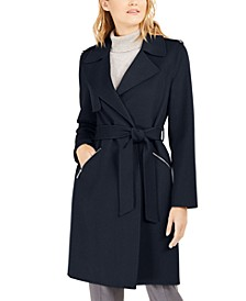 Double-Face Wrap Coat