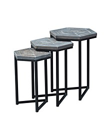 Grey Nesting Table (Set of 3), Quick Ship