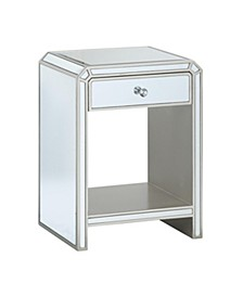 Clear One Drawer Chairside Table, Quick Ship