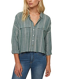 Juniors' Cotton Striped Shirt