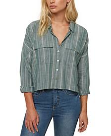 Juniors' Cotton Striped Shirt