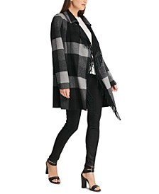 Open-Front Fringe Coat