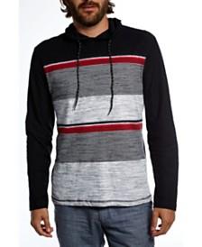 Distortion Long Sleeves Colorblock Stripe Pullover Hood