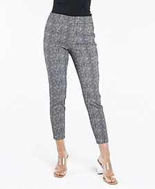 Pull On Textured Slim Leg Pants