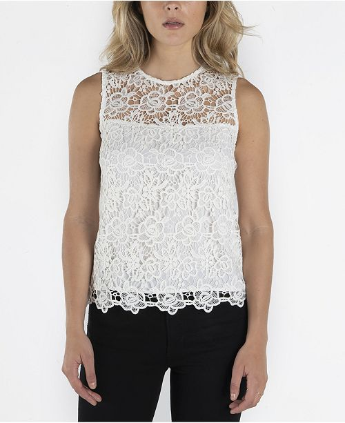 nanette Nanette Lepore Nanette Lepore Sleeveless Lace Top