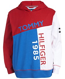 Toddler Boys Sal Colorblocked Logo-Print Lightweight Hoodie