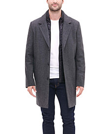 DKNY Men's Top Coat with Removable Quilted Bib, Created for Macy's