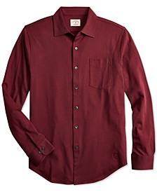 Men's Red Fleece Knit Shirt