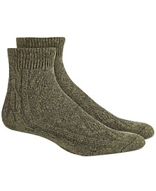 Women's Lightweight Cable Knit Ankle Boot Socks