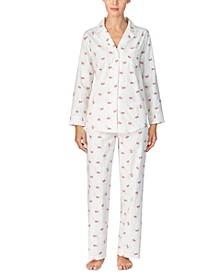 Women's Brushed Twill Pajama Set