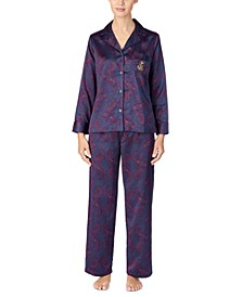 Women's Satin Pajama Set