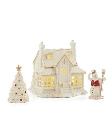 Lenox Mistletoe Park 2019 3pc Starter Set (Inn,Tree,Snowman) SPECIAL VALUE