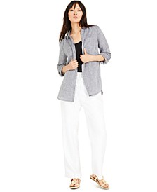 Utility Shirt, Scoop-Neck Tank & Tie-Waist Pants, Created for Macy's