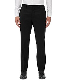 Men's Modern-Fit Black Solid Suit Separate Pants
