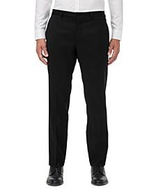 Armani Exchange Men's Modern-Fit Black Solid Suit Separate Pants