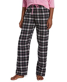 Women's Sparkling Plaid Pajama Pants
