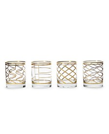 Elegante Assorted Double Old Fashioned Glasses, Set of 4