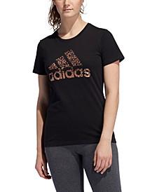 Women's Cotton Metallic Logo T-Shirt