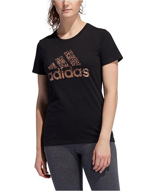 adidas Women's Cotton Metallic Logo T-Shirt