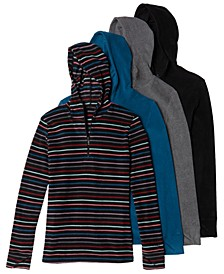 Fleecewear With Stretch Long-Sleeve Half-Zip Hoodie