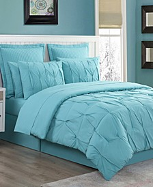 Luna Pintuck 4-Piece Full Comforter Set