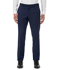 Men's Modern-Fit Blue Textured Micro Stripe Suit Separate Pants
