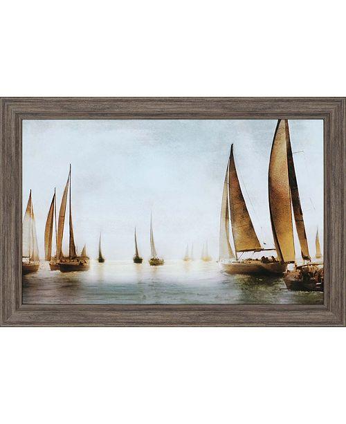 """Paragon Golden Sails Framed Wall Art, 30"""" x 45"""""""
