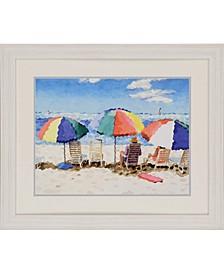"""Beach Chairs Framed Wall Art, 28"""" x 34"""""""