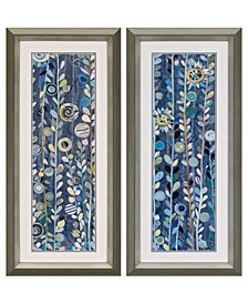 "Navy Sky Framed Wall Art Set of 2, 45"" x 21"""