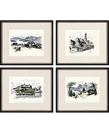 "Mountainside Framed Wall Art Set of 4, 18"" x 21"""