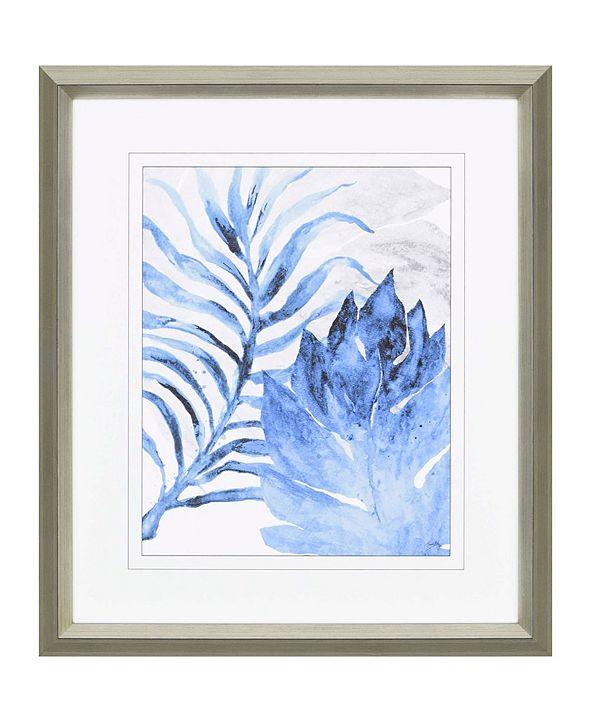 """Paragon Blue Fern and Leaf I Framed Wall Art, 43"""" x 37"""""""