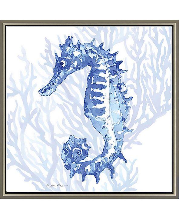 "Paragon Ocean Seahorse Framed Wall Art, 39"" x 39"""
