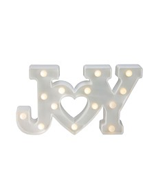 """12.75"""" Battery Operated LED Lighted """"JOY"""" Christmas Marquee Sign"""