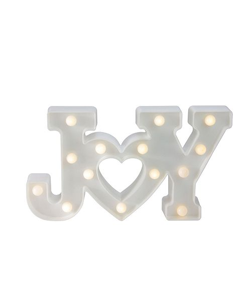 Northlight Battery Operated Led Lighted Joy Christmas Marquee Sign