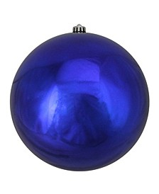 "Royal Blue Shatterproof Shiny Christmas Ball Ornament 10"" 250mm"