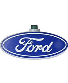 10 Blue and White Ford Logo Novelty Christmas Lights - 12 ft Green Wire