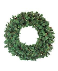 Pre-Lit Royal Oregon Pine Artificial Christmas Wreath 48-Inch Clear Lights