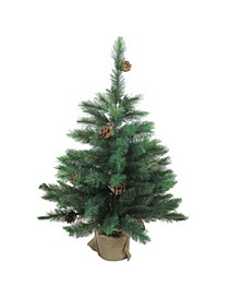 3' Royal Oregon Pine Artificial Christmas Tree in Burlap Base - Unlit
