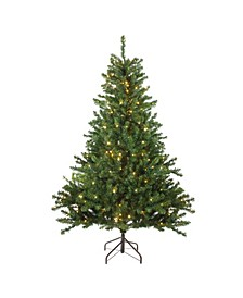 8' Pre-Lit Canadian Pine Artificial Christmas Tree - Candlelight LED Lights