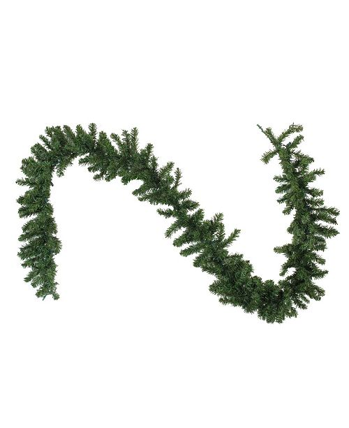 Northlight 9'  Pre-Lit LED Canadian Pine Artificial Christmas Garland with Timer - Clear Lights
