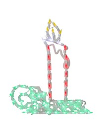 """17.5"""" Red and Green LED Lighted Candle Christmas Window Silhouette Decoration"""