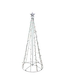 5' Red and Green LED Lighted Twinkling Christmas Tree Outdoor Decoration