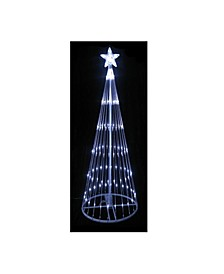 12' Pure White LED Lighted Show Cone Christmas Tree Outdoor Decoration