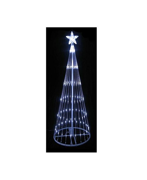 Northlight 12' Pure White LED Lighted Show Cone Christmas Tree Outdoor Decoration