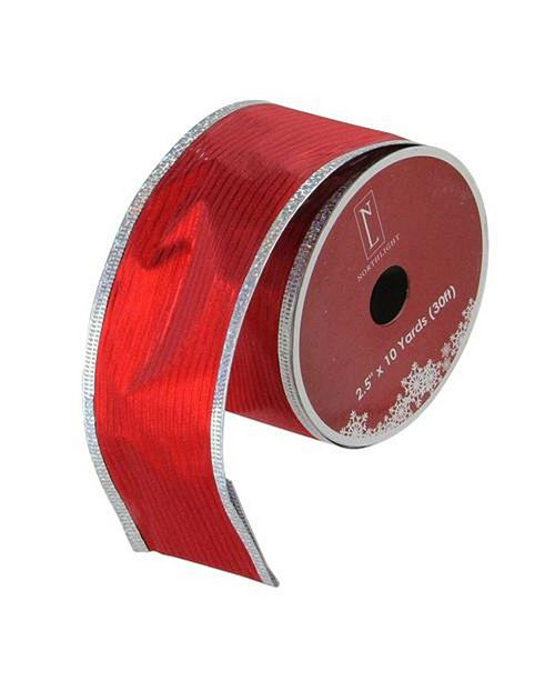 Northlight Shimmery Horizontal Wired Christmas Craft Ribbon Yards